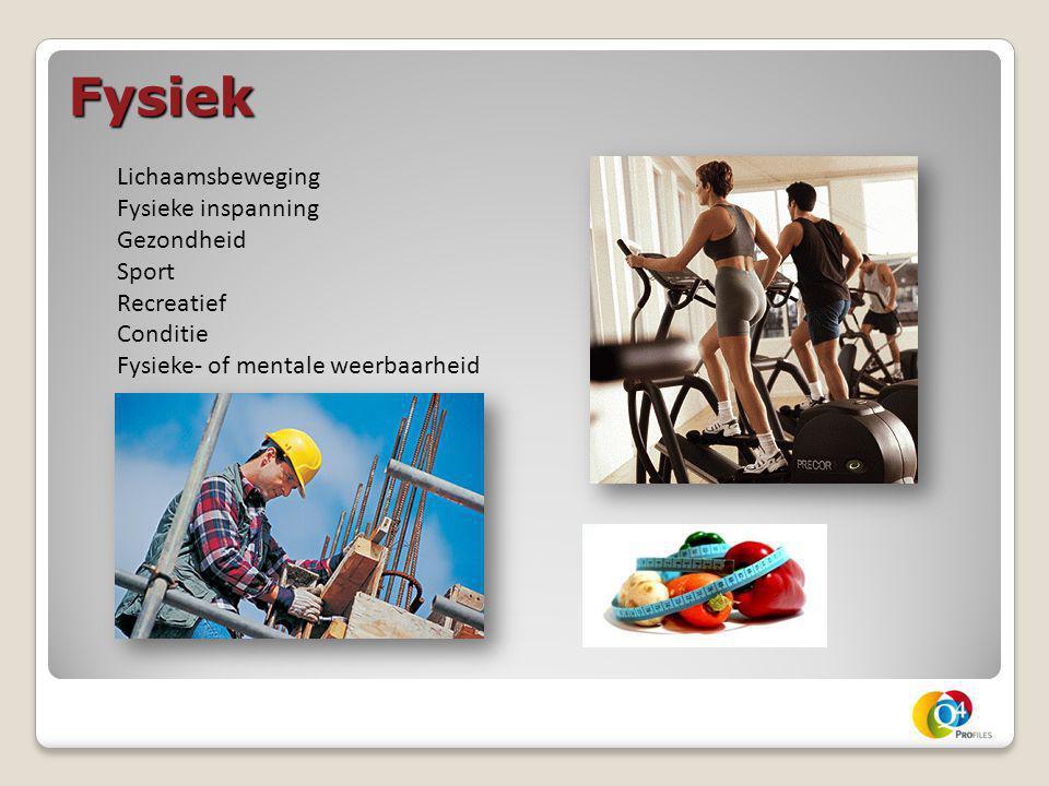 Fysiek Lichaamsbeweging Fysieke inspanning Gezondheid Sport Recreatief