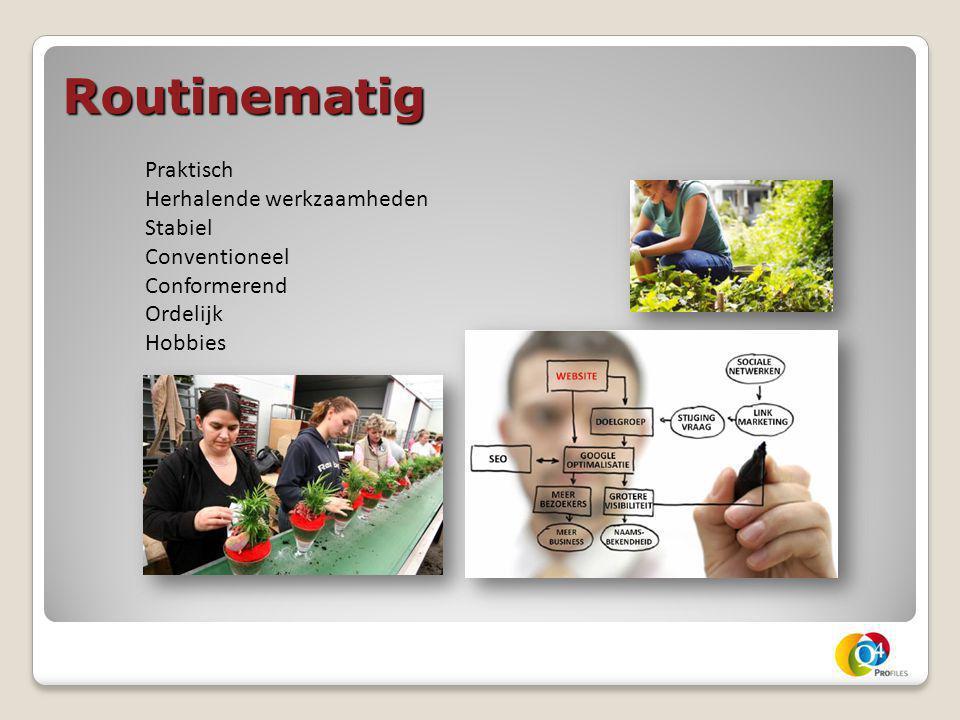 Routinematig Praktisch Herhalende werkzaamheden Stabiel Conventioneel