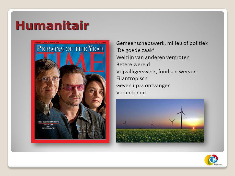 Humanitair Gemeenschapswerk, milieu of politiek 'De goede zaak'