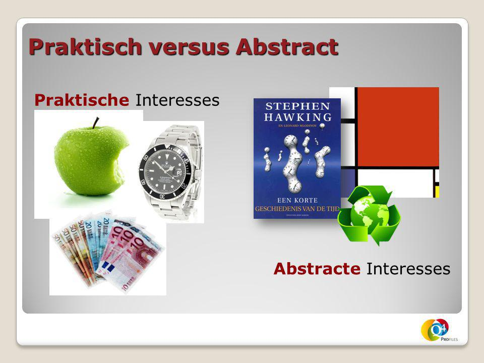 Praktisch versus Abstract