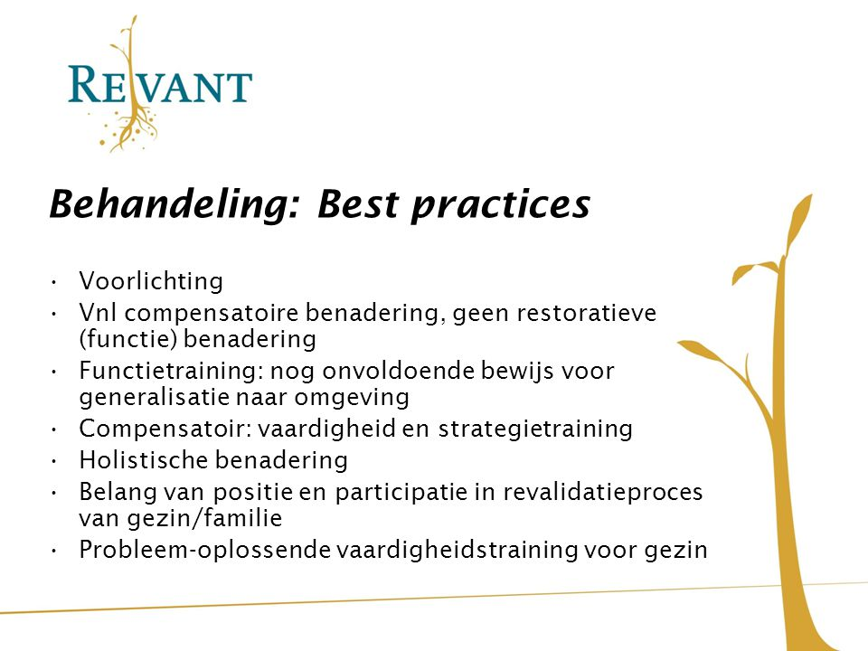 Behandeling: Best practices