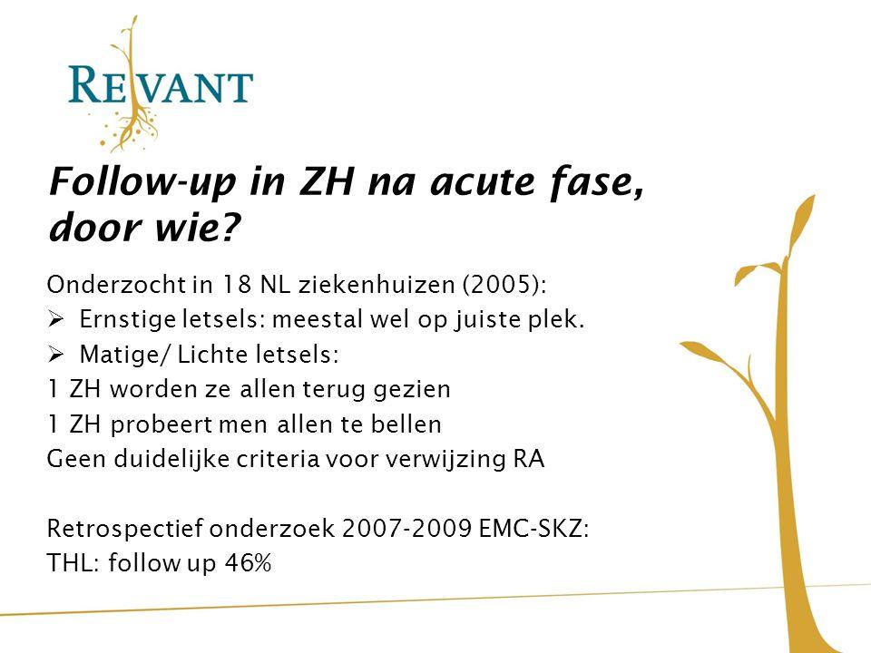 Follow-up in ZH na acute fase, door wie