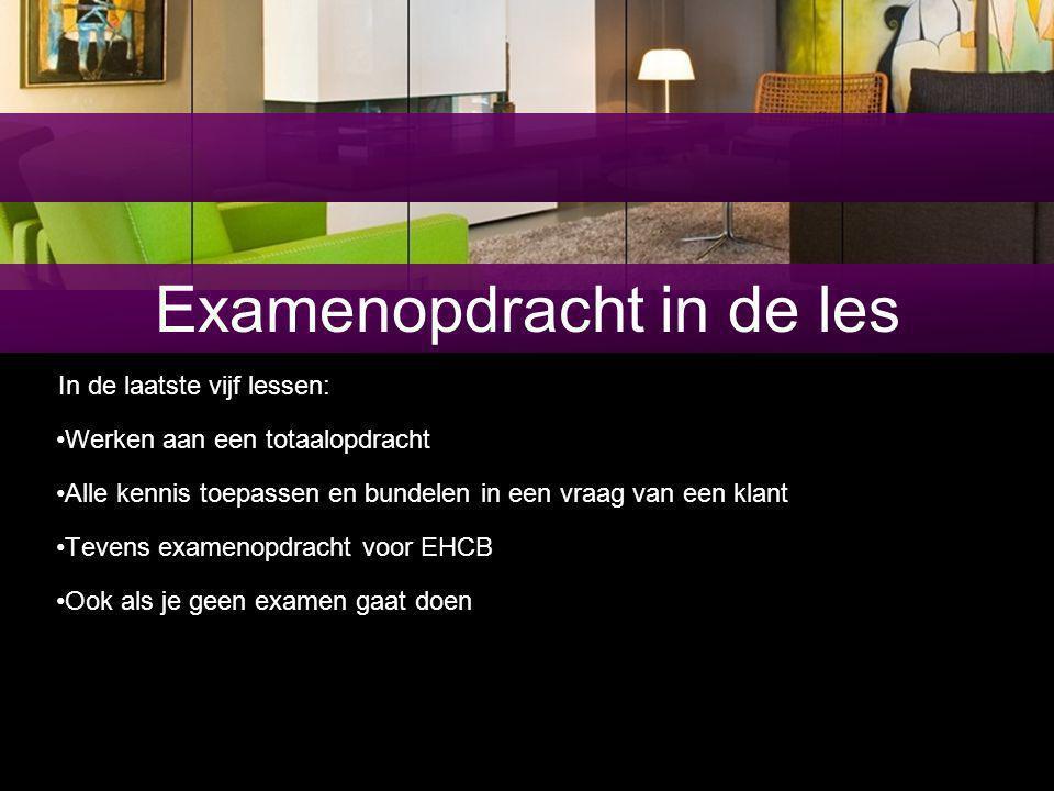 Examenopdracht in de les