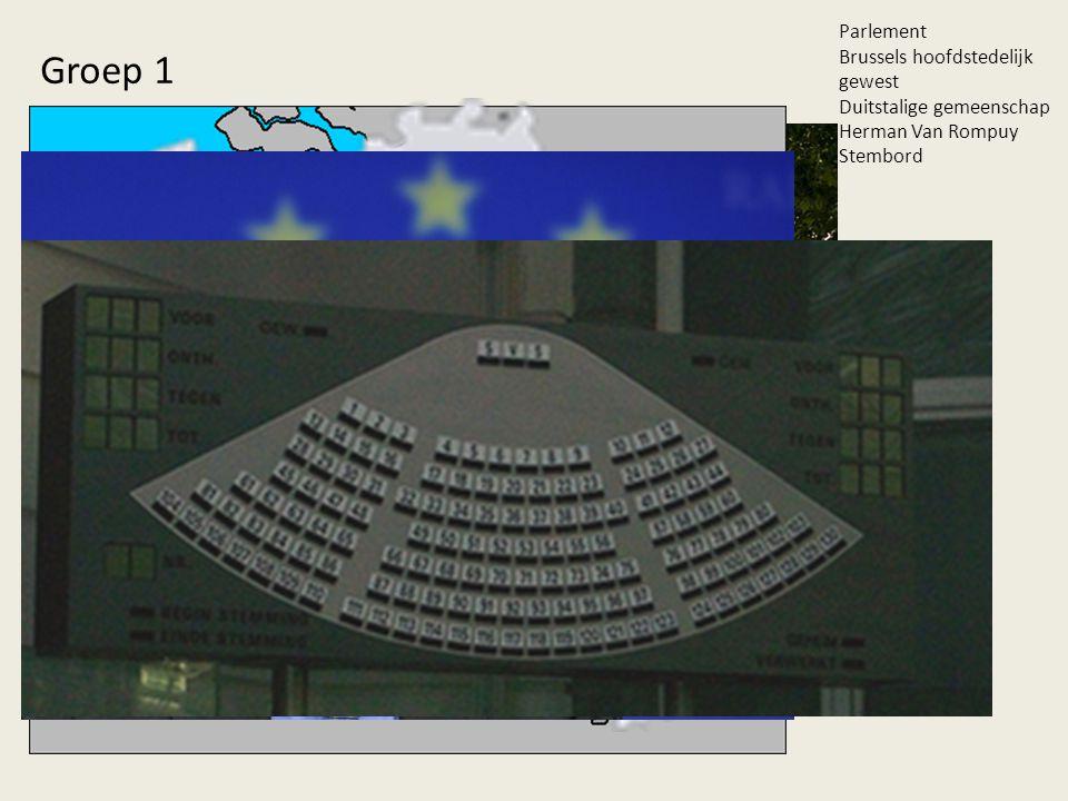 Groep 1 Parlement Brussels hoofdstedelijk gewest