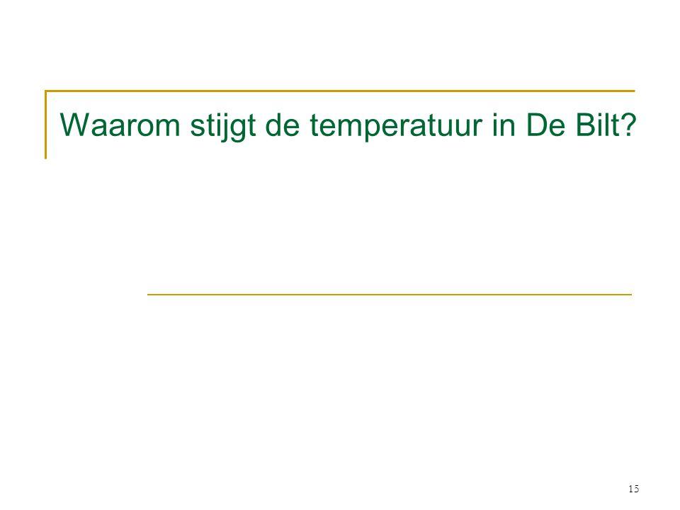 Waarom stijgt de temperatuur in De Bilt