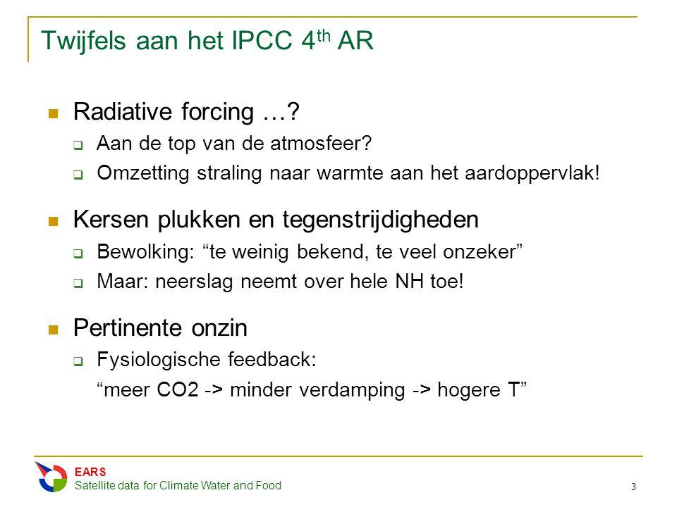 Twijfels aan het IPCC 4th AR