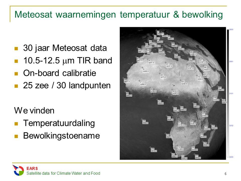 Meteosat waarnemingen temperatuur & bewolking