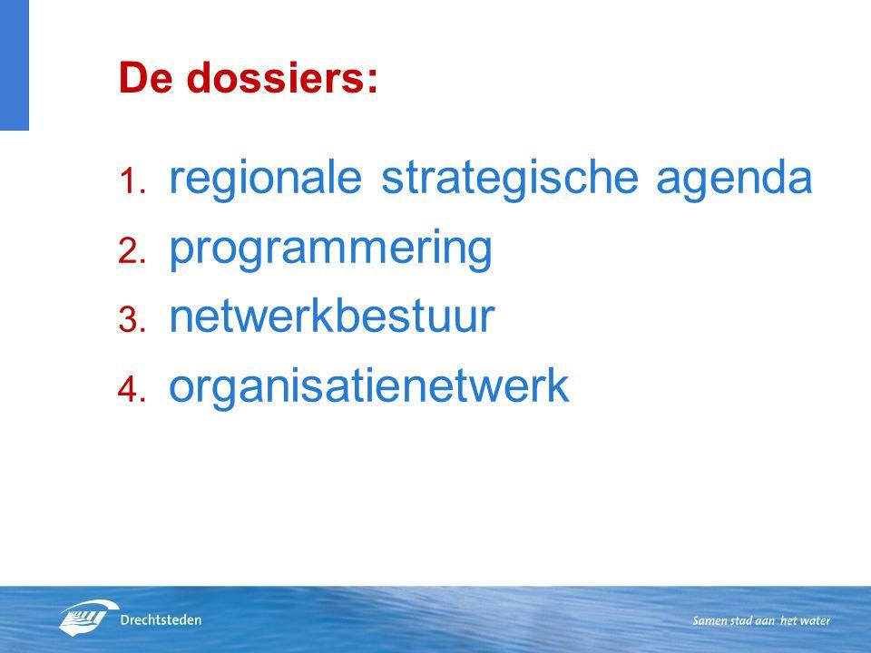 regionale strategische agenda programmering netwerkbestuur