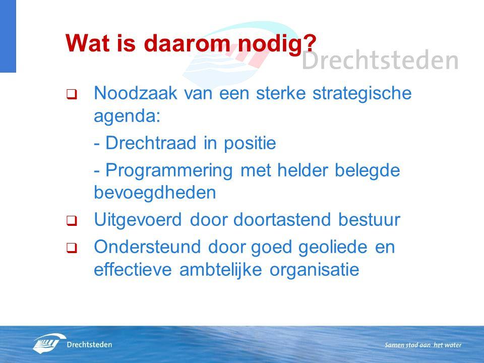 Wat is daarom nodig Noodzaak van een sterke strategische agenda: