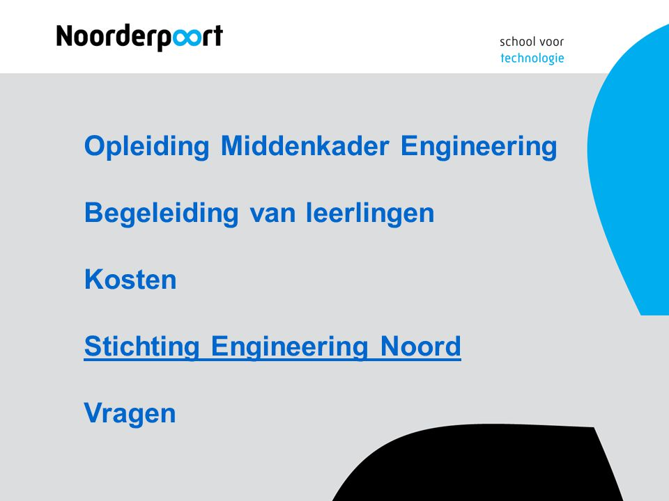 Opleiding Middenkader Engineering