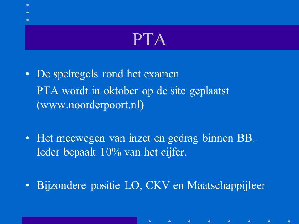PTA De spelregels rond het examen