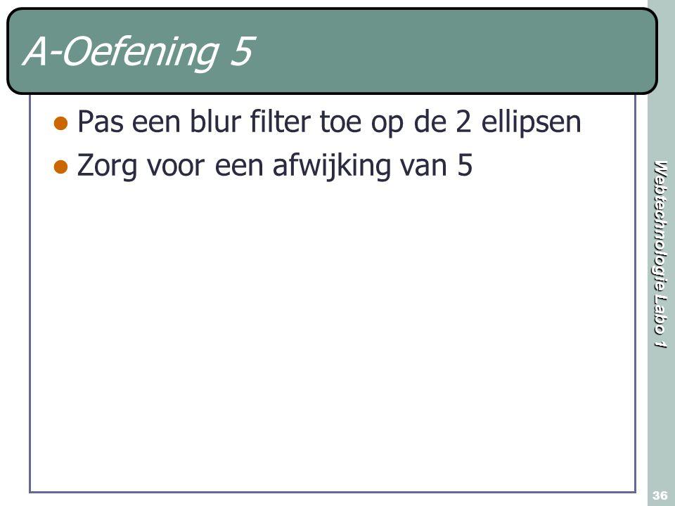 A-Oefening 5 Pas een blur filter toe op de 2 ellipsen