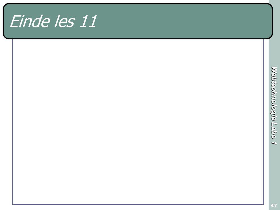 Einde les 11