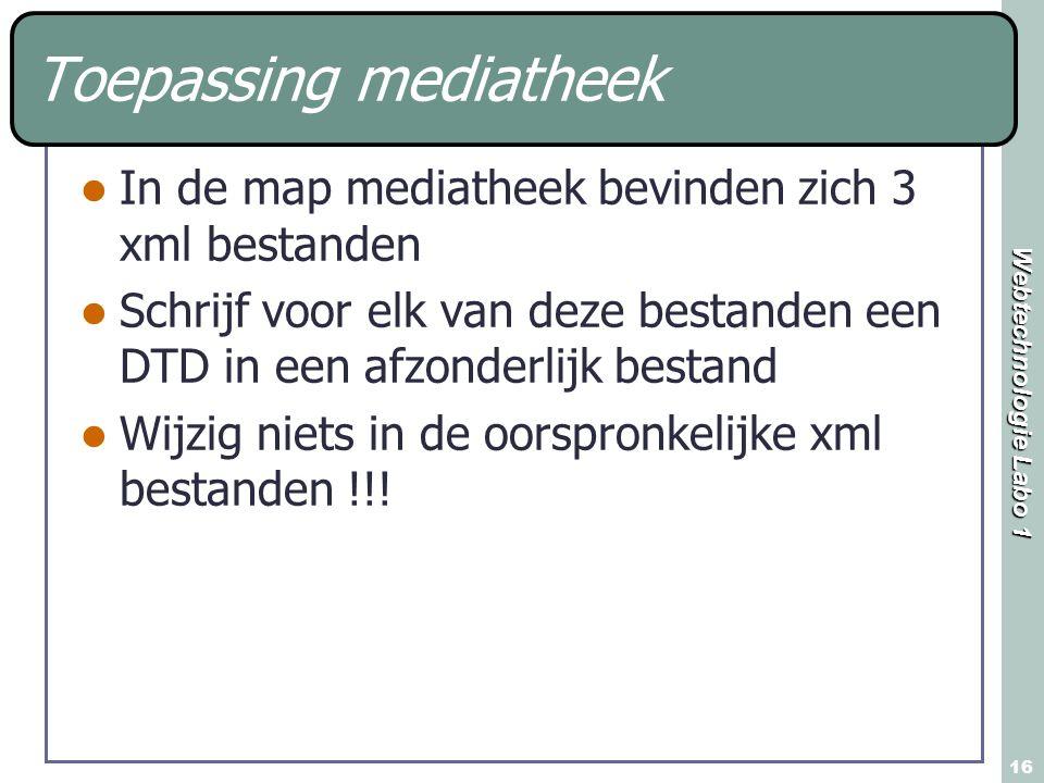Toepassing mediatheek