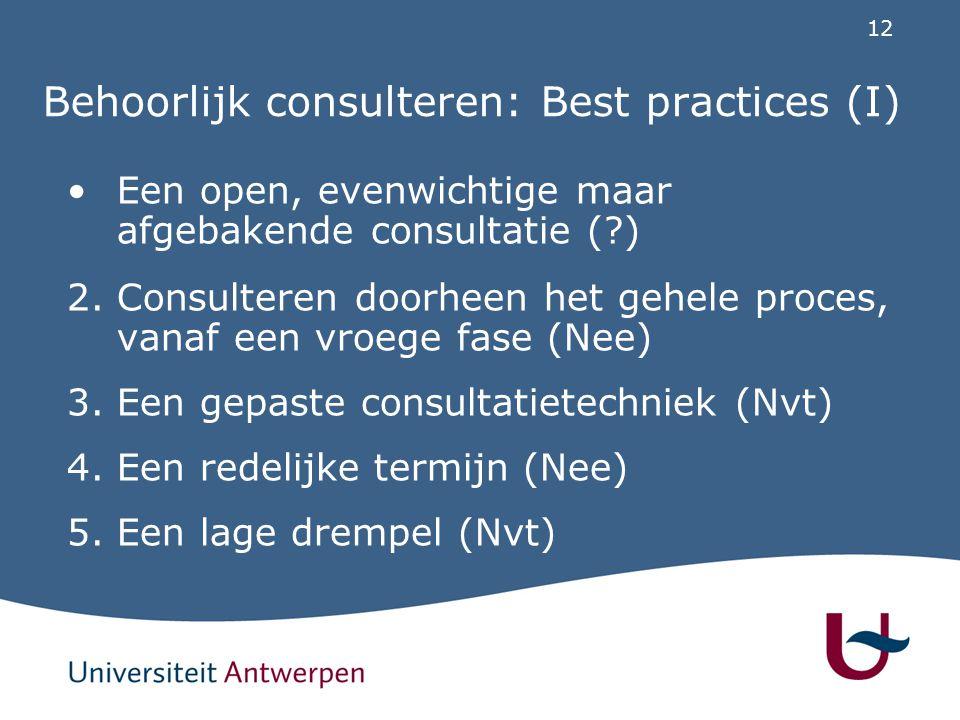 Behoorlijk consulteren: Best practices (II)
