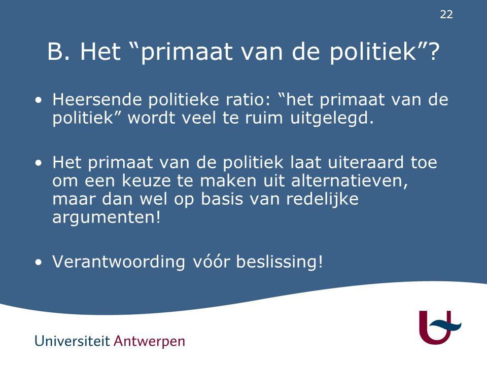 C. Oplossing Wetgevingsbeleid (taak voor Vlaamse Regering)