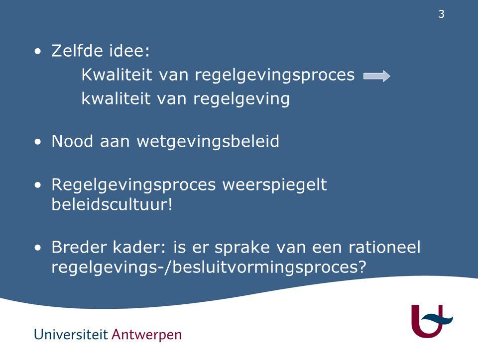 Wetgevingsbeleid in Vlaanderen