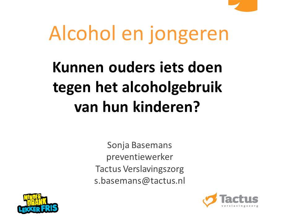 Kunnen ouders iets doen tegen het alcoholgebruik