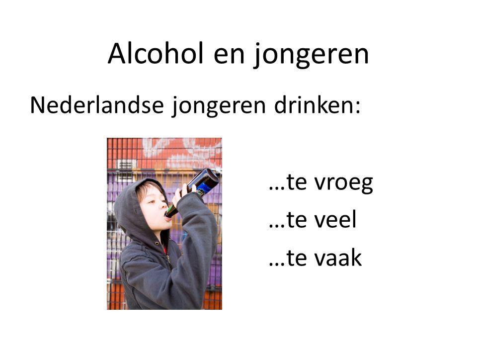 Alcohol en jongeren Nederlandse jongeren drinken: …te vroeg …te veel …te vaak