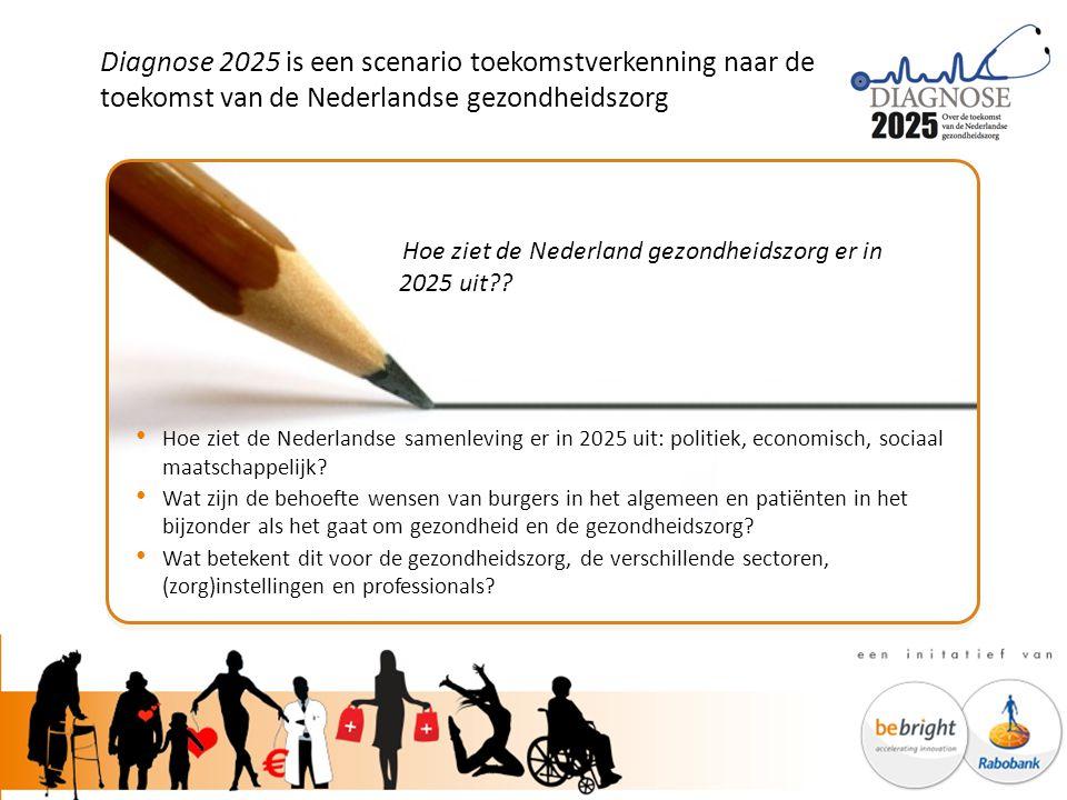 Diagnose 2025 is een scenario toekomstverkenning naar de toekomst van de Nederlandse gezondheidszorg