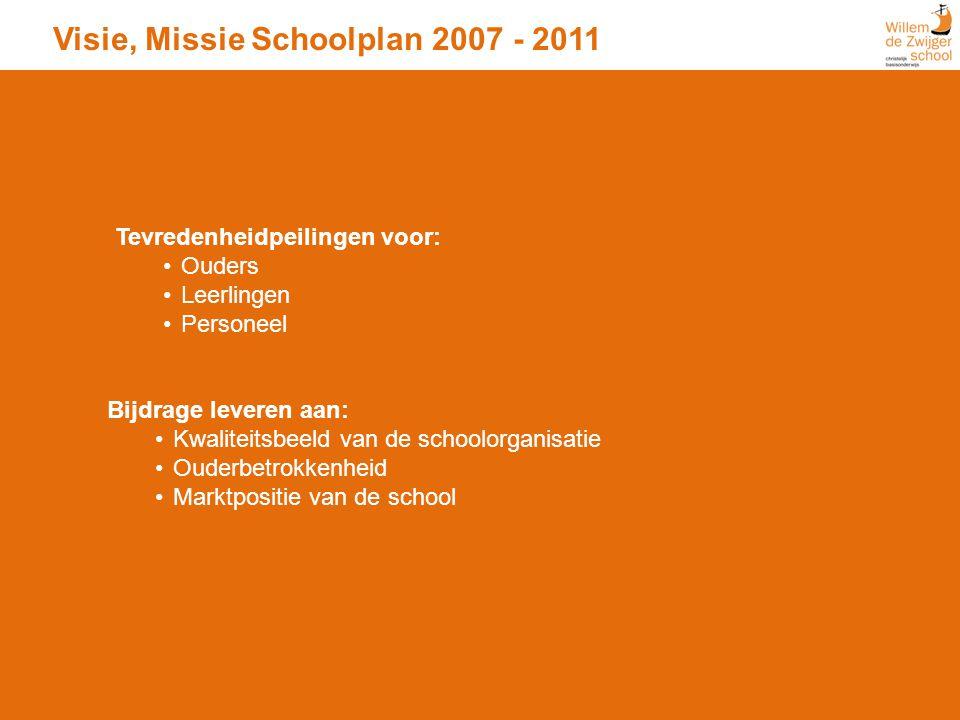 Visie, Missie Schoolplan 2007 - 2011