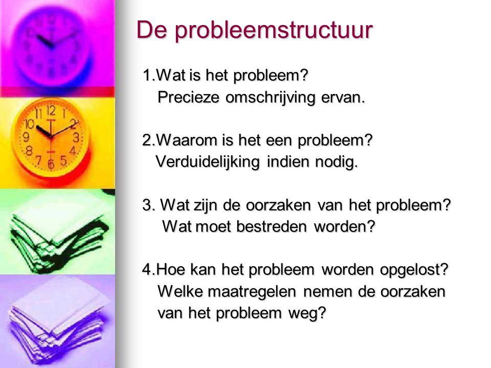 De probleemstructuur