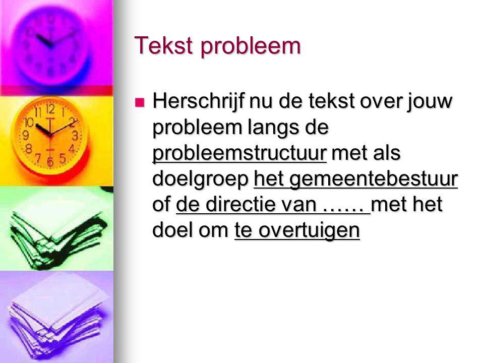 Tekst probleem
