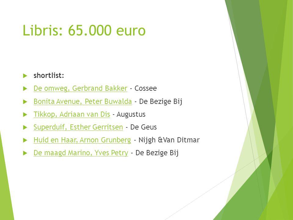 Libris: 65.000 euro shortlist: De omweg, Gerbrand Bakker - Cossee