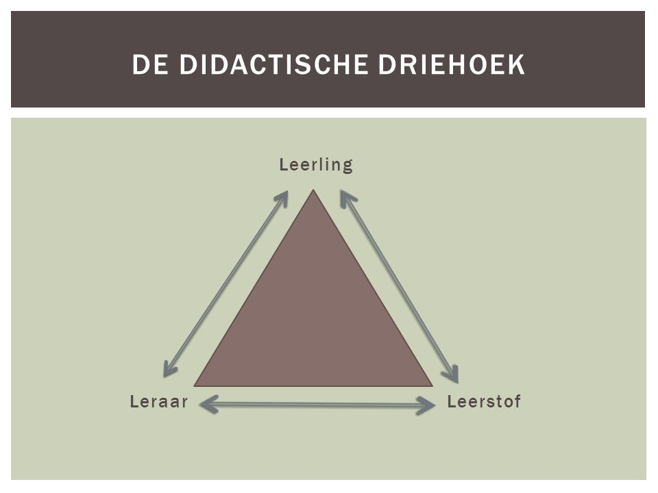De didactische driehoek