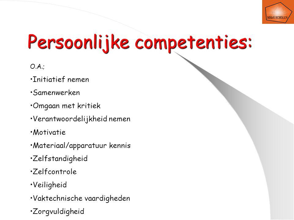 Persoonlijke competenties:
