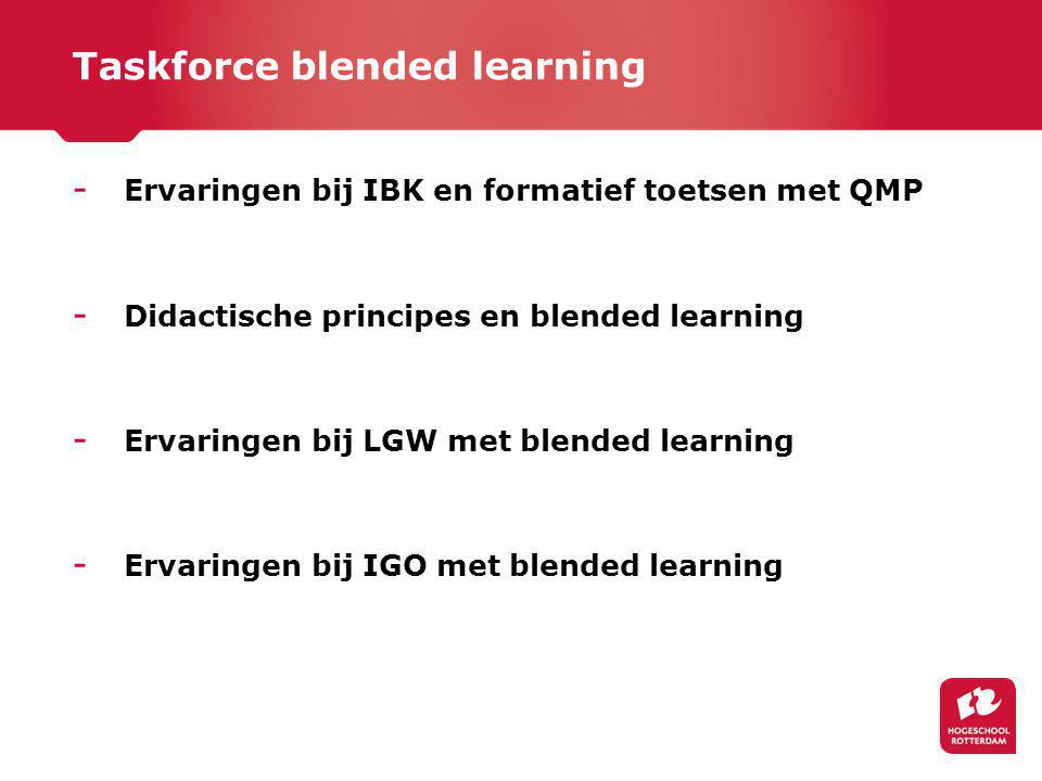 Taskforce blended learning