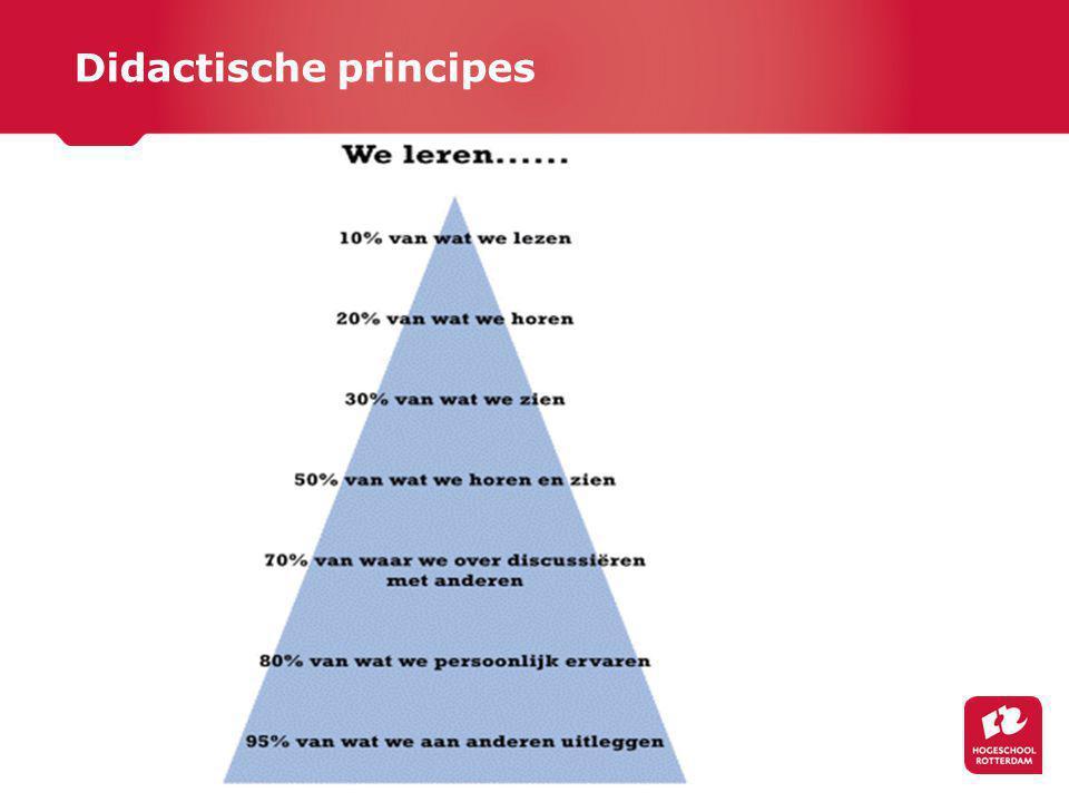 Didactische principes