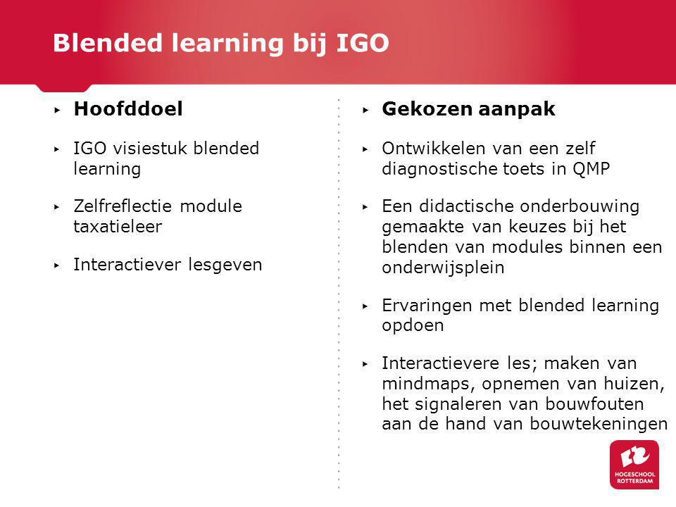 Blended learning bij IGO