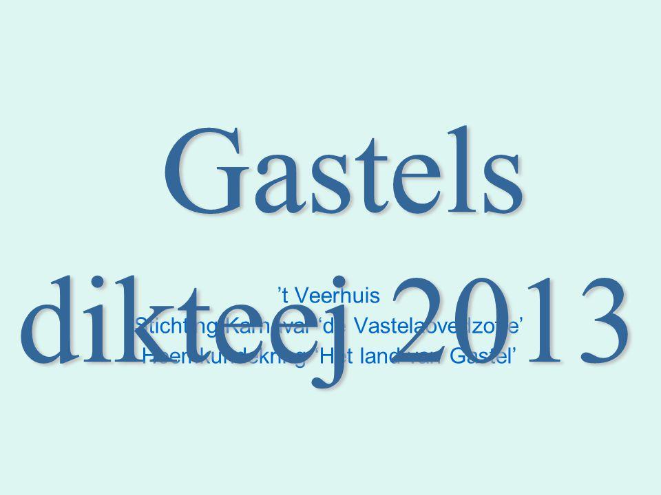 Gastels dikteej 2013 't Veerhuis