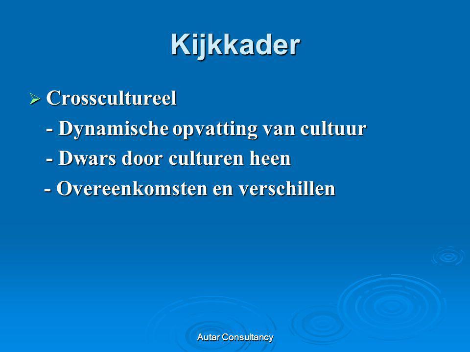 Kijkkader Crosscultureel - Dynamische opvatting van cultuur