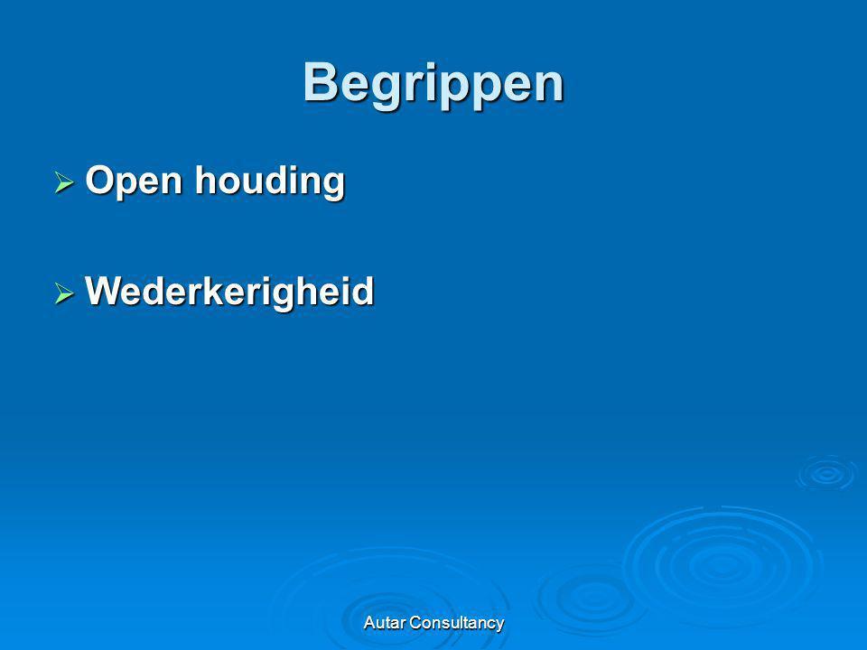 Begrippen Open houding Wederkerigheid Autar Consultancy