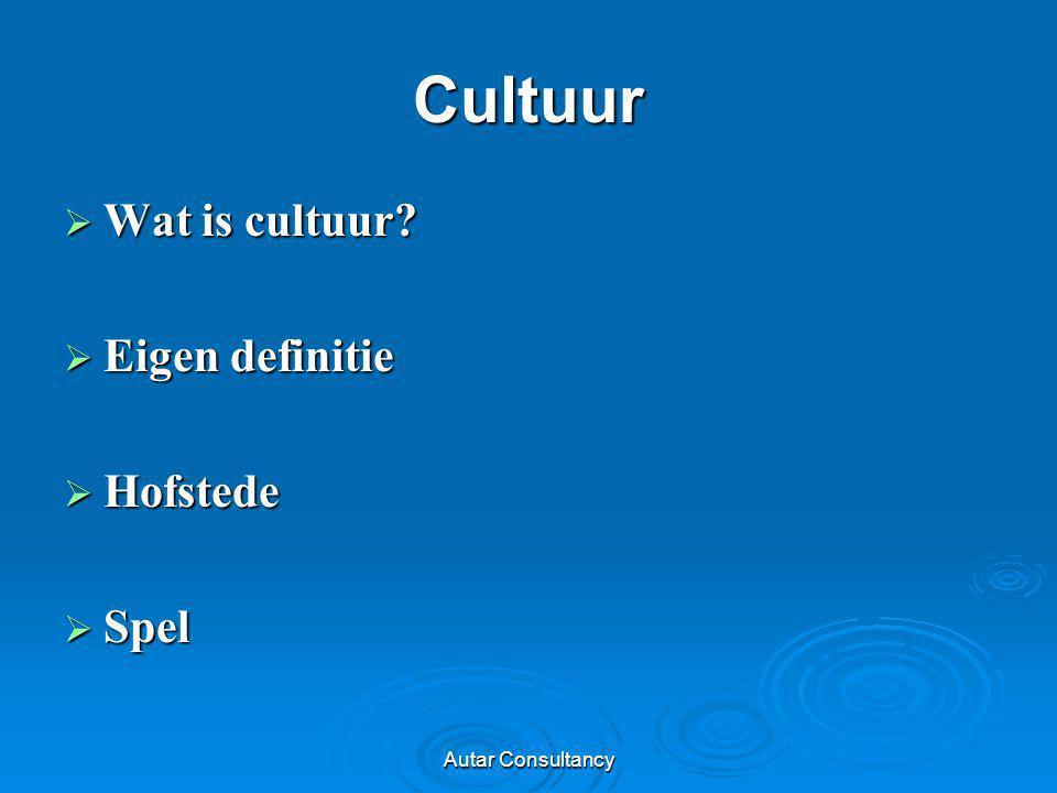 Cultuur Wat is cultuur Eigen definitie Hofstede Spel
