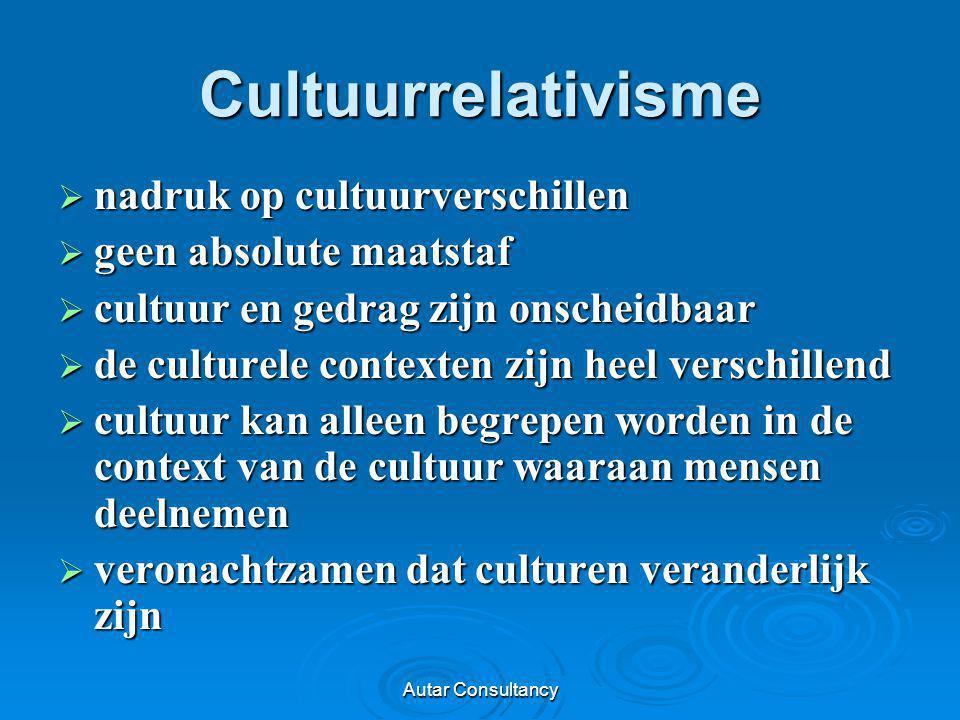 Cultuurrelativisme nadruk op cultuurverschillen geen absolute maatstaf