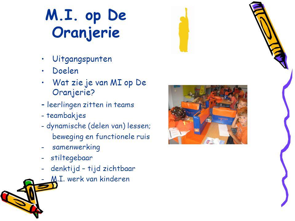 M.I. op De Oranjerie Uitgangspunten Doelen