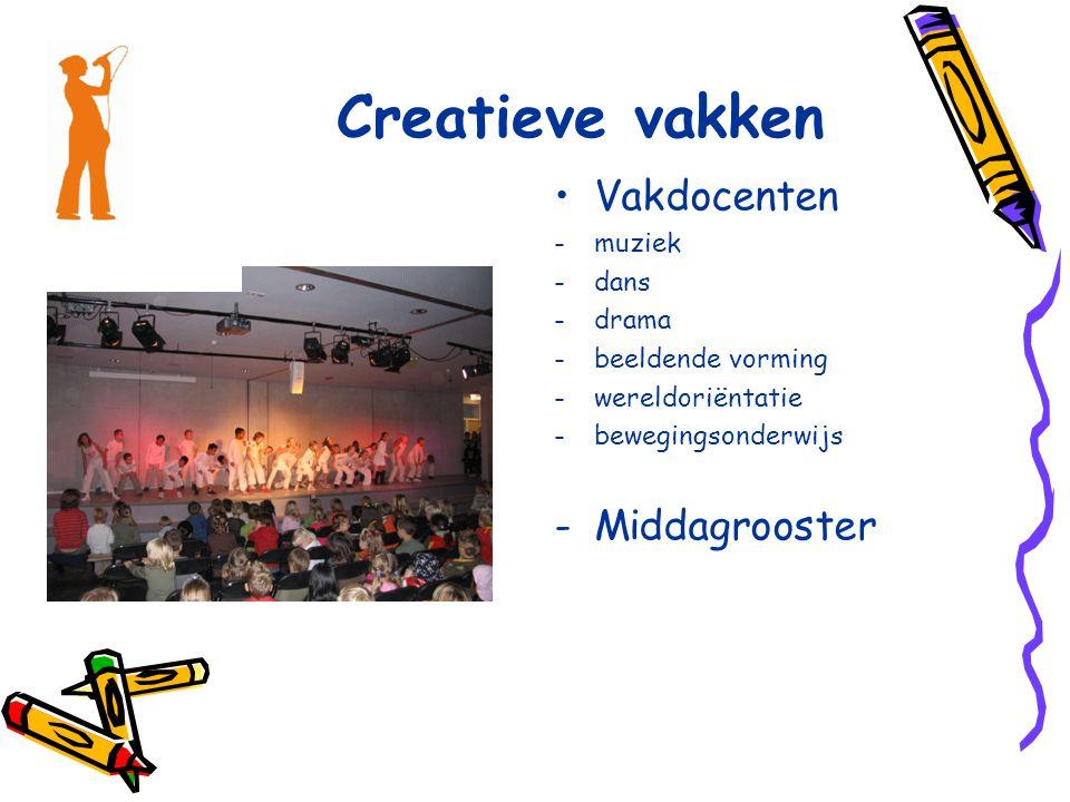 Creatieve vakken Vakdocenten Middagrooster muziek dans drama
