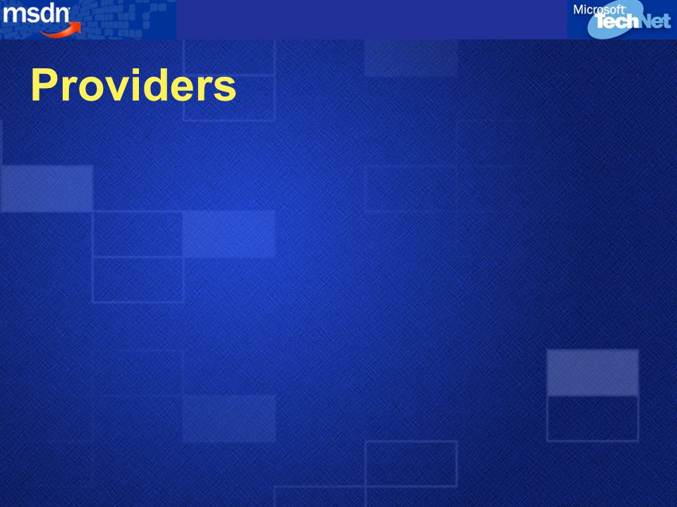Providers