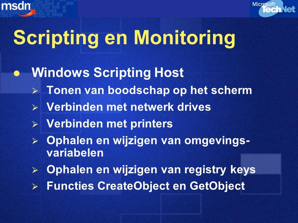 Scripting en Monitoring