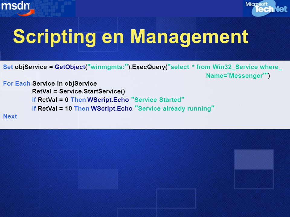 Scripting en Management