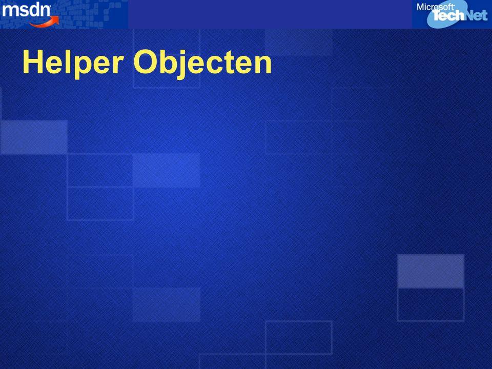 Helper Objecten