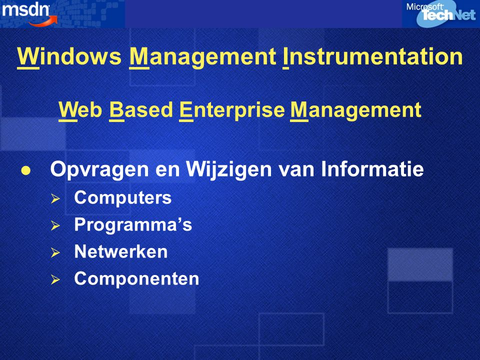 Windows Management Instrumentation