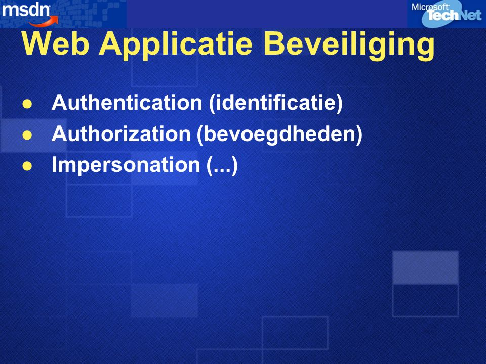 Web Applicatie Beveiliging