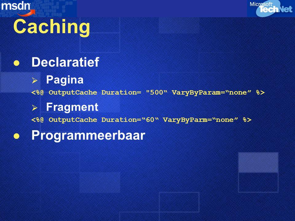 Caching Declaratief Programmeerbaar Pagina Fragment
