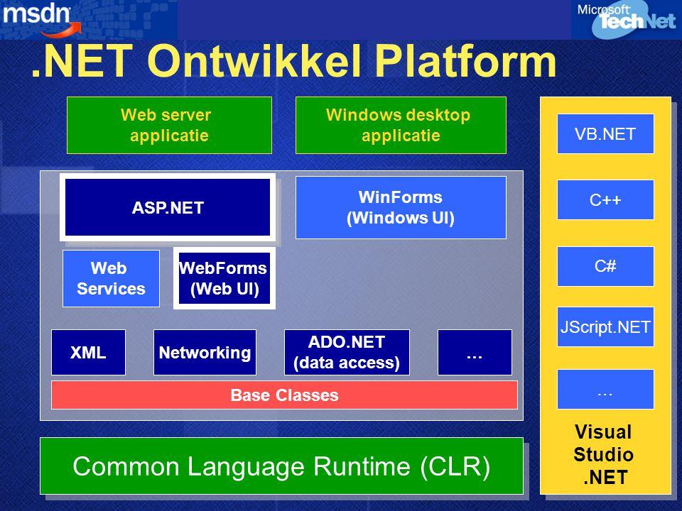 .NET Ontwikkel Platform