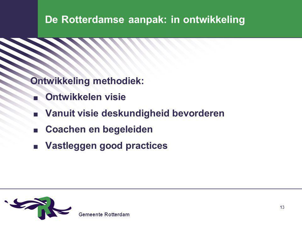 De Rotterdamse aanpak: in ontwikkeling