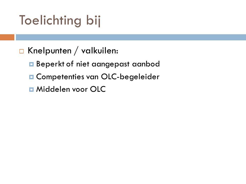 Toelichting bij Knelpunten / valkuilen: